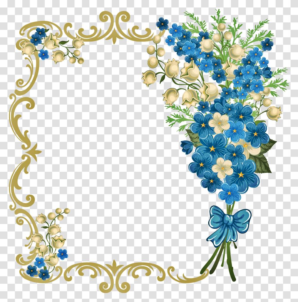 Blue Wedding Invitation Background Hd Floral Design Pattern Transparent Png Pngset Com