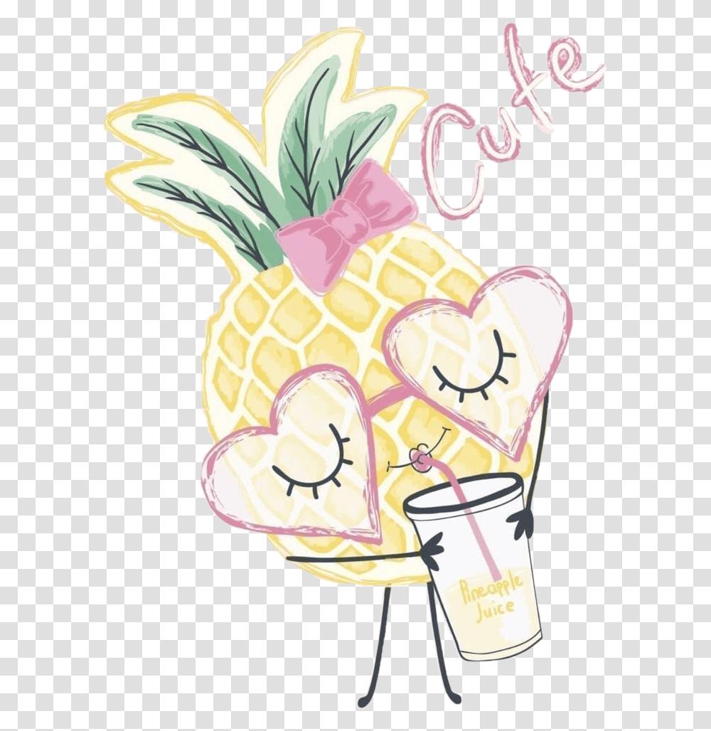 Pineapple Juice Drink Drinking Cute Text Art Cute Pineapple ...